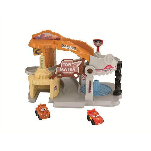 Fisher-Price Little People Disney Pixar's Cars Radiator Srpings Cars Wheelies Playset