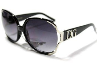 Sun Glasses Celebrity Shades DG Eyewear Celebrity Inspired Vintage Women's Glasses with Black / Zebra Hard Cover Case