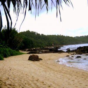 white sands at wediombo beach yogyakarta indonesia