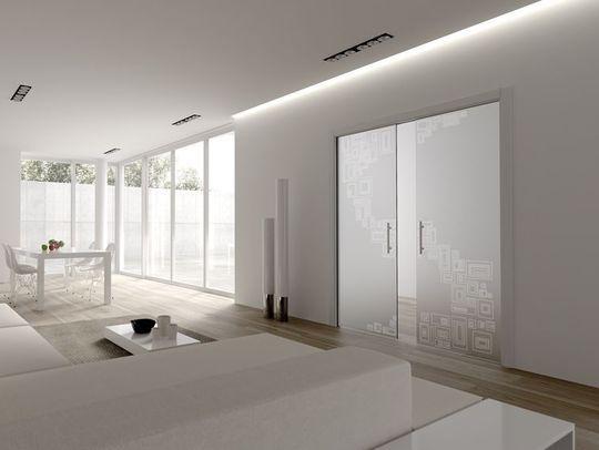 Portes coulissantes à galandage décoratives en verre - 15 portes coulissantes belles et fonctionnelles - CôtéMaison.fr
