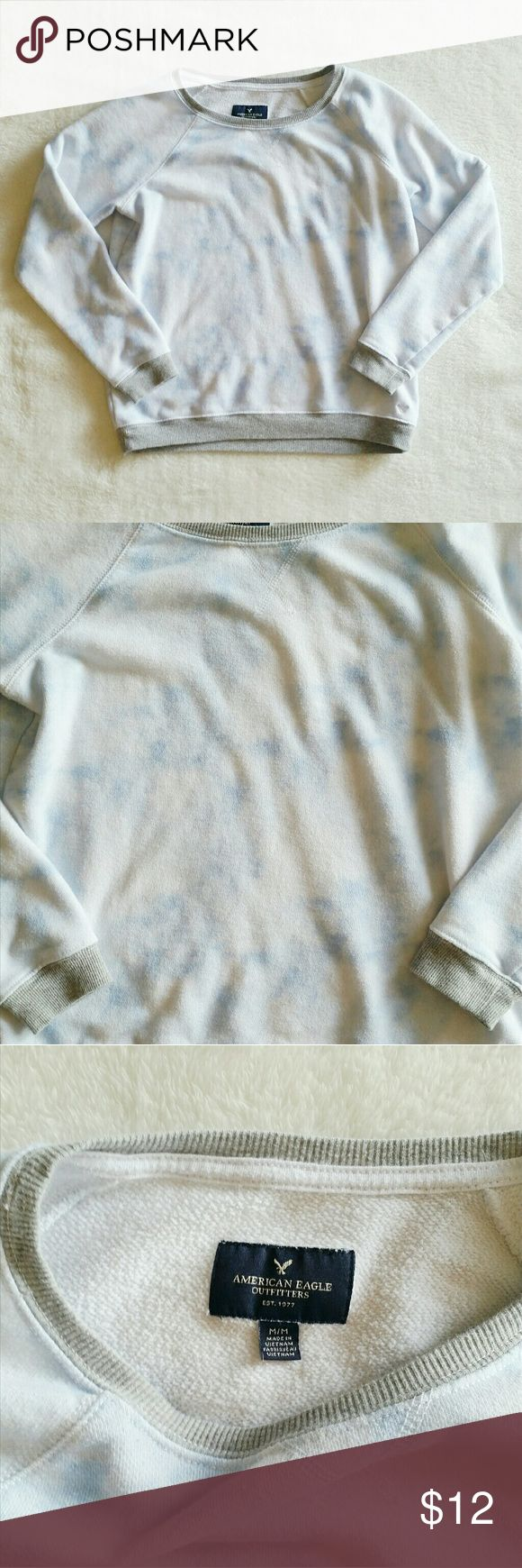 American Eagle Sweatshirt Cool sweatshirt from American Eagle Outfitters. Size medium. Has a tie dye or watercolor design to it. Normal wash wear. American Eagle Outfitters Sweaters