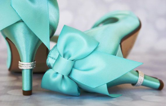 Aqua Wedding Shoes / Bride on Budget by EllieWrenWeddingShoe