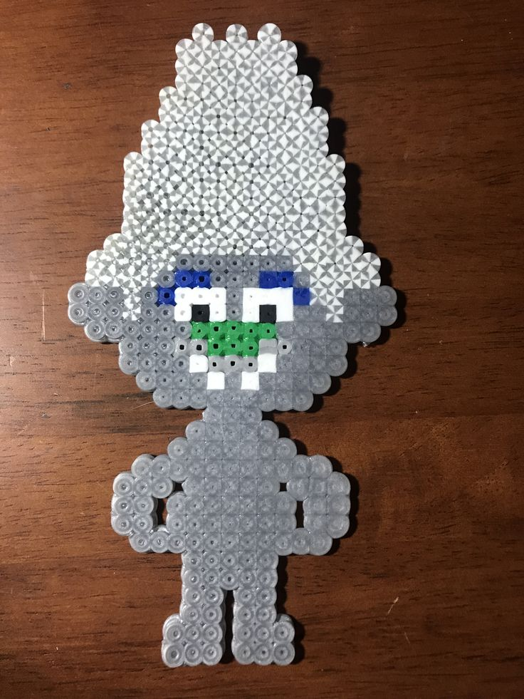 Guy Diamond - Perler Bead Pattern - Trolls