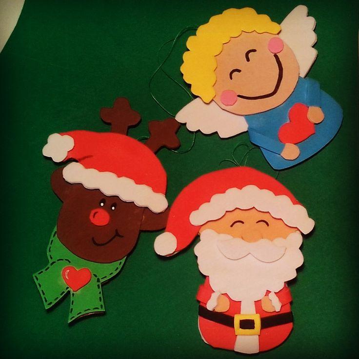 Adornos  de Navidad  con goma eva                                                                                                                                                                                 Más
