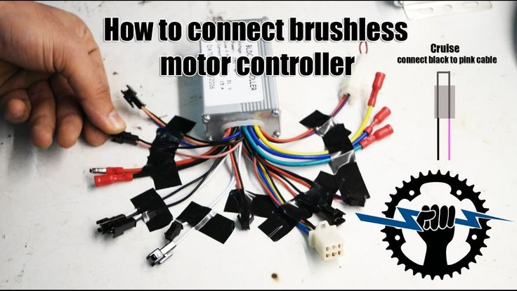 How to connect brushless motor controller cables 250W 36V (cable assembl...
