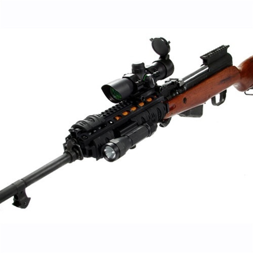 SKS Simonov 7,62 × 39mm rifle with UTG Gen 2 SOCOM Tri-Rail System Standard/Oversized Brl. & Gas Tube