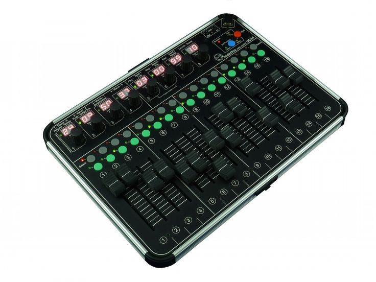 The UC44 as big brother of the UC4 is a universal controller for all kinds of midi controllable hard- and software.  The all-rounder has 8 push-encoders each with a 2-digit-display, 16 faders (60mm…