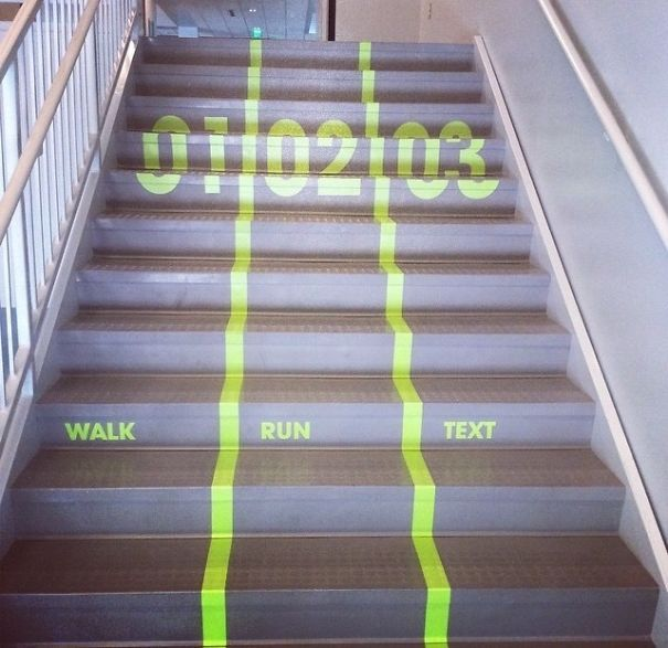 Hate Getting Stuck Behind Slow People On The Stairs? My School Just Put These In Everywhere On Campus