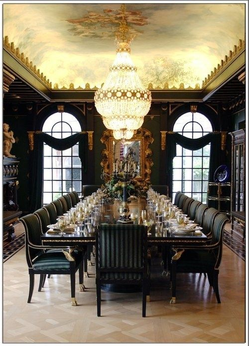 This dining room is so fancy and elegant -- it's perfect for a large feast. via StyleListCanada