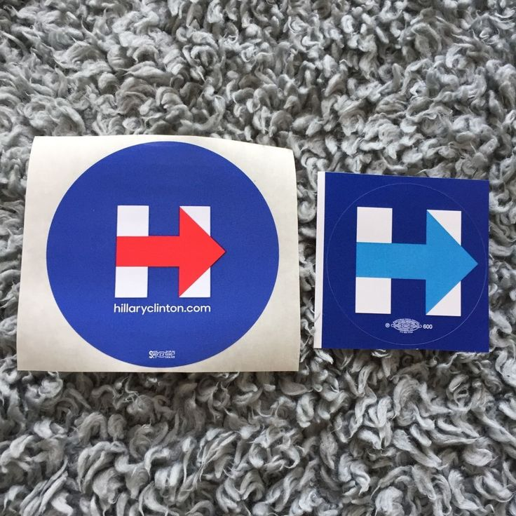 Hillary Clinton: 2 (Two) Hillary Clinton - Stickers -> BUY IT NOW ONLY: $1.95 on eBay!