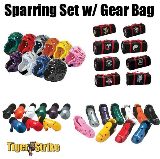 Custom Sparring Gear Package w/ Gear Bag