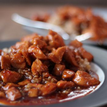 Slow Cooker Bourbon Chicken is the best way to enjoy two of life's great things - Bourbon and Chicken! The Bourbon makes this dish deliciously sweet and tasty.