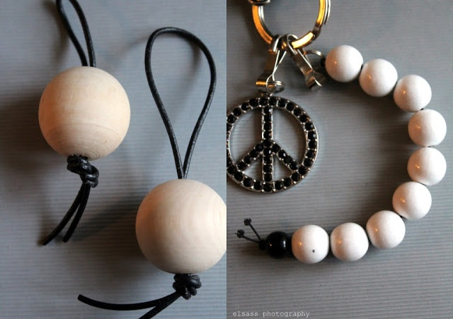 DIY: Wooden bead charm and key holder