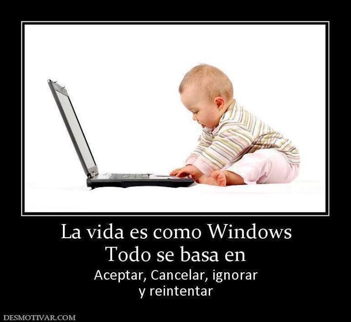 La vida es como Windows