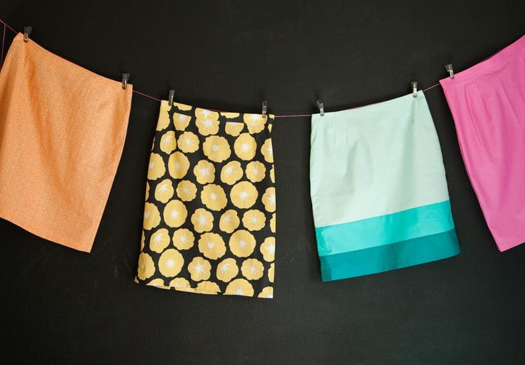 Sew Confident: Sewing Ideas for Beginners. Skirts Hanging on a Line - from Garment Basics with Brett Bara