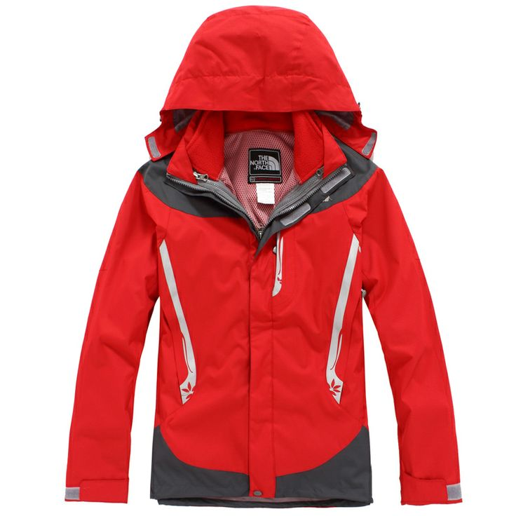 Womens Red North Face Gore Tex 2 in 1 Jacket For Sale Online - Click Image to Close