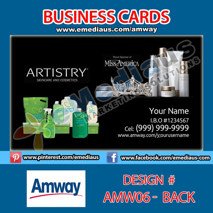 7 best Amway Business Cards images on Pinterest | Amway business ...