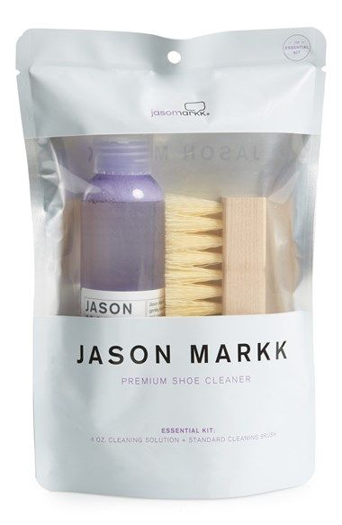 Free shipping and returns on Jason Markk 'Essential' Shoe Cleaning Kit at Nordstrom.com. Jason Markk's gentle, foaming Premium Shoe Cleaner effectively removes dirt and stains from your favorite footwear, conditioning it to look good as new. Biodegradable, 98% natural and totally free of harsh chemicals and abrasives, this cleaner's as good to the environment as it is to your shoes. Here, a 4-ounce bottle is packaged with a wooden-handled brush, providing (almost) everything you need to ...