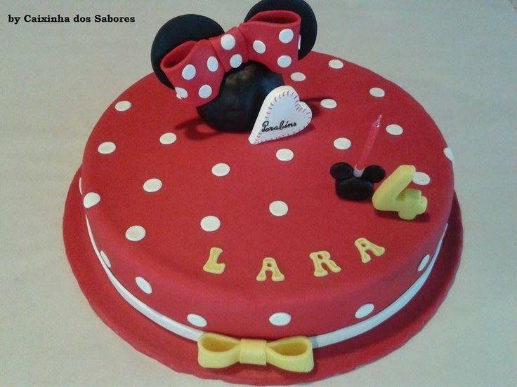 Bolo de aniversário da Lara - Minnie