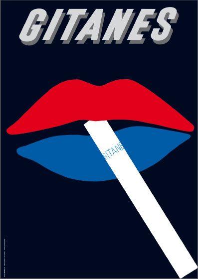 Gunter Rambow ~ vintage ad for Gitanes cigarettes