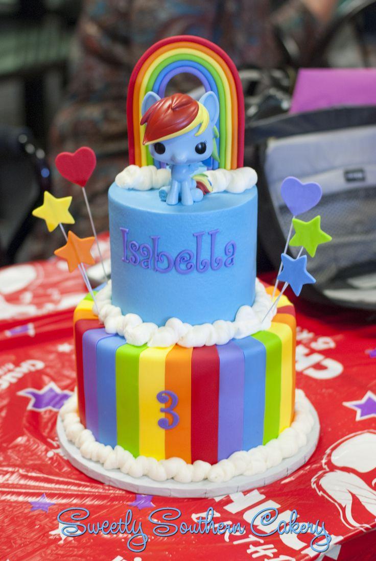Rainbow Cake; Rainbow Dash Cake; Funko Pop cake; My Little Pony Cake