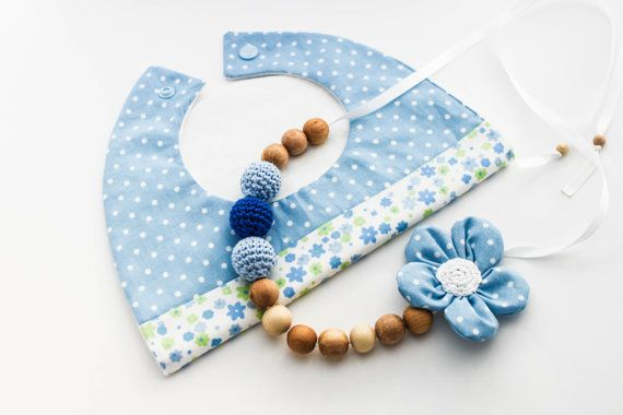 Morther Baby Boy Gift Set Nursing Necklace/Teething by CasaDeGato, $30.00