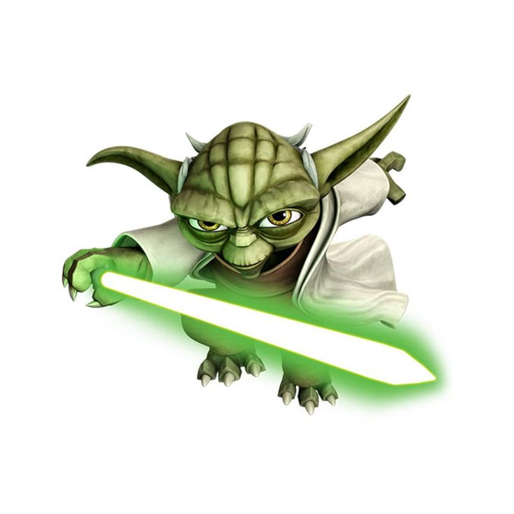 star wars yoda Clone | WANDTATTOO STAR WARS The Clone Wars YODA Flying Yoda Wandaufkleber ...