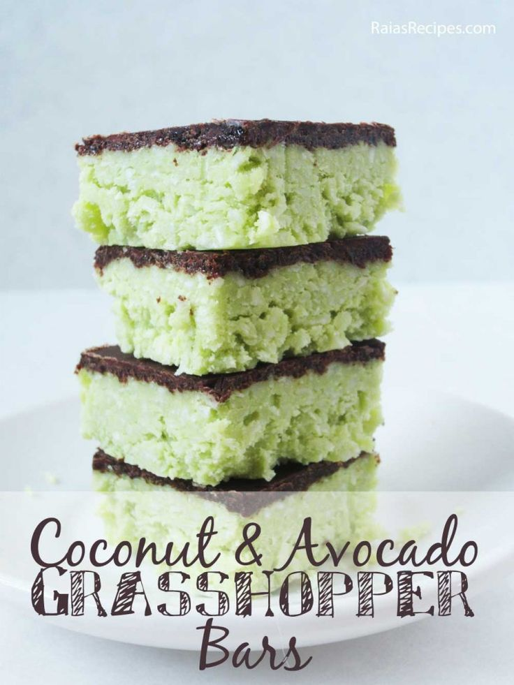 No-bake vegan dessert! Coconut & Avocado Grasshopper Bars make the perfect healthy splurge for Phase 3. Use xylitol and raw cacao powder.