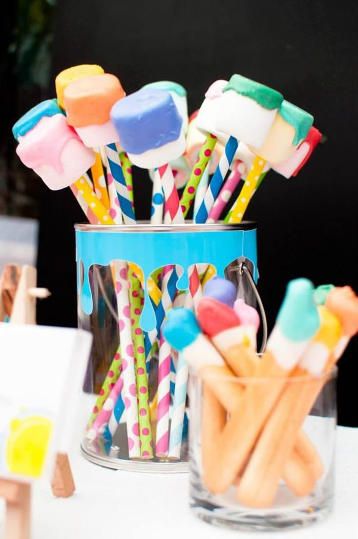 Painting Party with Lots of Really Fun Ideas via Kara's Party Ideas   KarasPartyIdeas.com #PaintParty #ArtParty #PartyIdeas #Supplies
