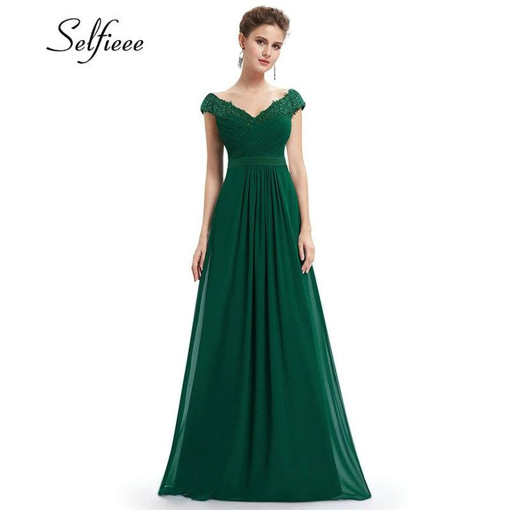 Wedding Party Gowns Ladies Lace Dress Chiffon Formal in 2019 ... a55d6e5d5e17