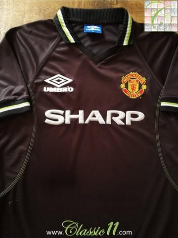 Official Umbro Manchester United 3rd kit football shirt from the 1998/1999 season.