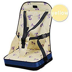 Fairy Baby Portable Feeding Booster Seat Dining Toddler Travel High Chair Cushion,Yellow