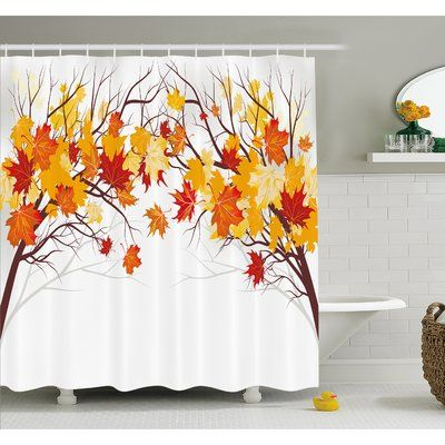 Fall image of canadian maple leaves with soft reflection for Fall bathroom sets