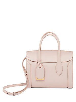 b6e83d739e81 Alexander McQueen Heroine Leather Shopper 30 in Nude | Handbags ...