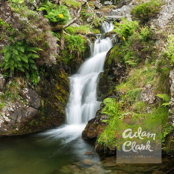 Cascade. The Hidden Waterfall. Yorkshire Dales Landscape Photography. Vertical Panorama Print