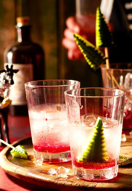 Oh Gurkenbaum, oh Gurkenbaum, du schmeckst echt gut im spritzigen Gin-Limo-Drink.