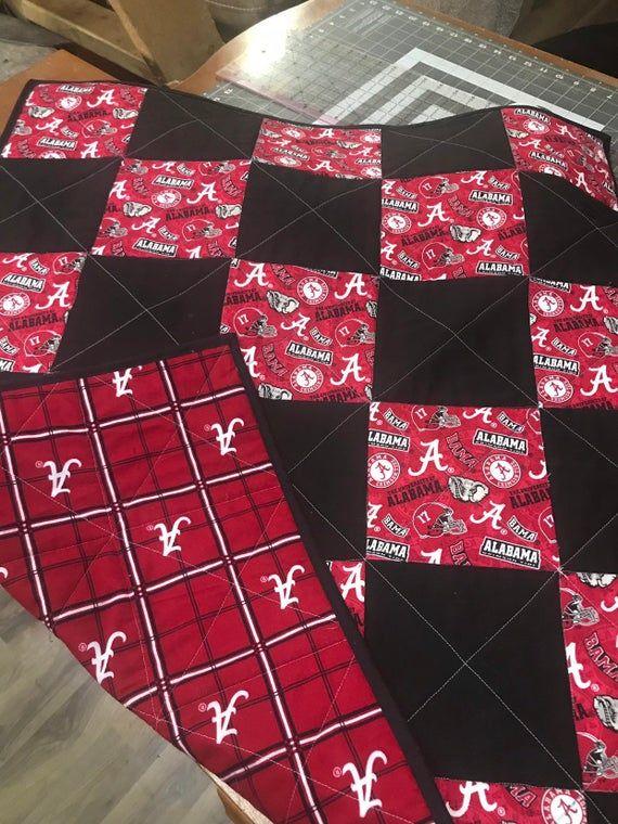 Alabama Crimson Tide Baby Blanket Flannel Baby Blanket