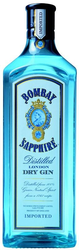 BOMBAY SAPPHIRE - my favorite of all gins currently, though I must confess that I haven't tried as many as I'd like