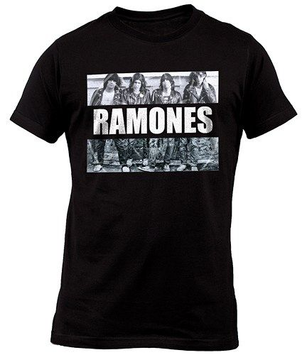 Ramones Band Legend Black T-Shirt For Mens