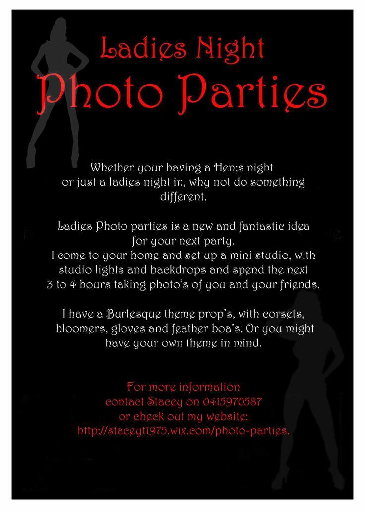 brochure for ladies night