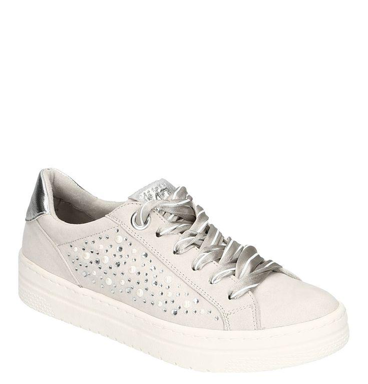 Sneaker, Metallic Details, Satin Schnürung, Perlen, Strass