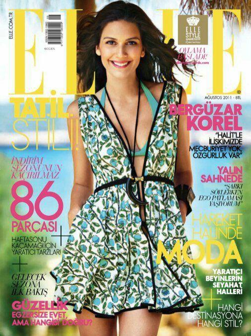 Elle-Turkey-August-2011-Berguzar-Korel-Cover