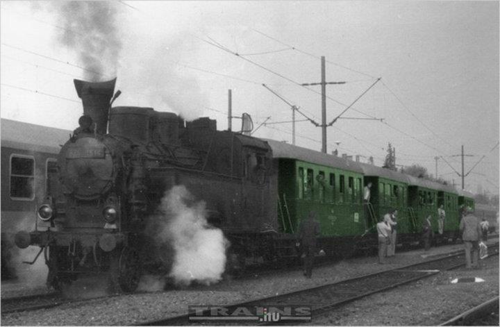 Eger, Vasútállomás 1950-es évek közepe