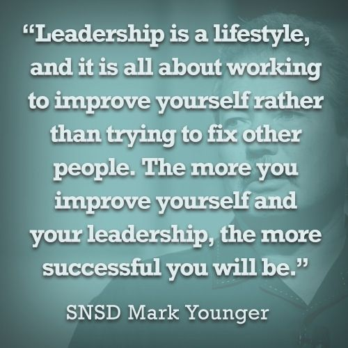 Core leadership philosophy - Set an example!