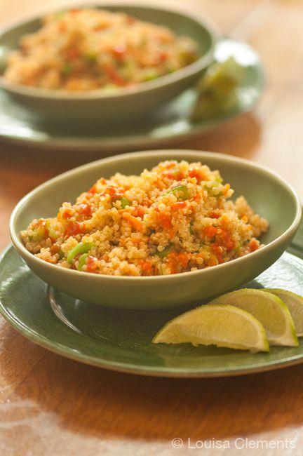 quinoa salad and sriracha dressing