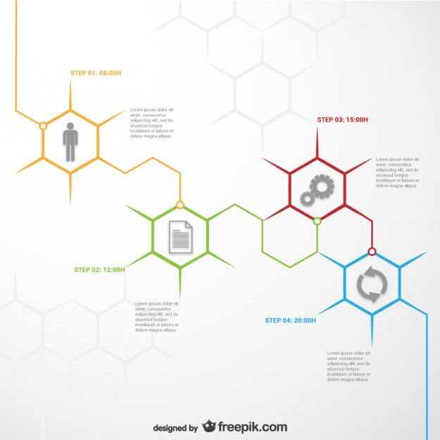 Modèle infographique Honeycomb                              …
