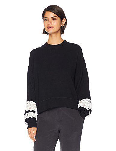 7bfa39565a6 New The Kooples Women s Women s Sweet Fleece Lace Sweatshirt.   88.29 -  118.43  findanew
