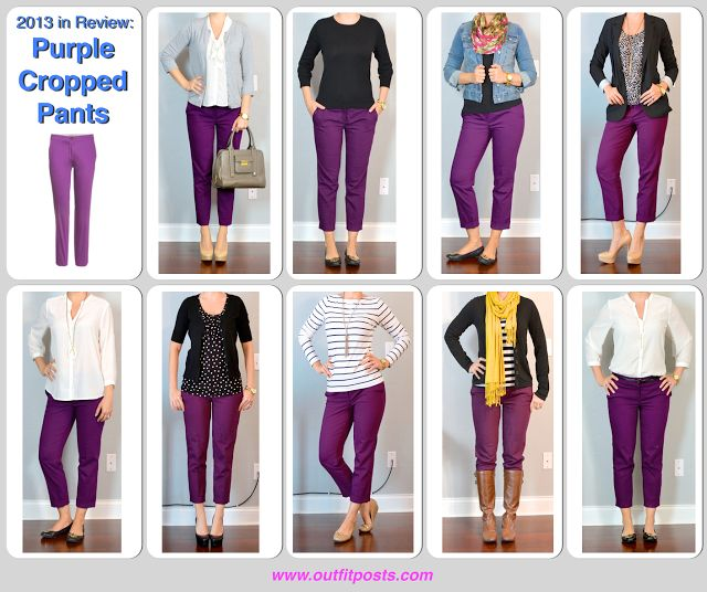 Outfit Posts: 2013 in review - outfit posts: purple cropped pants