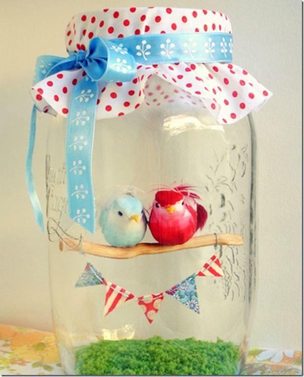 Love Birds in a Jar | Mason Jar Crafts Love