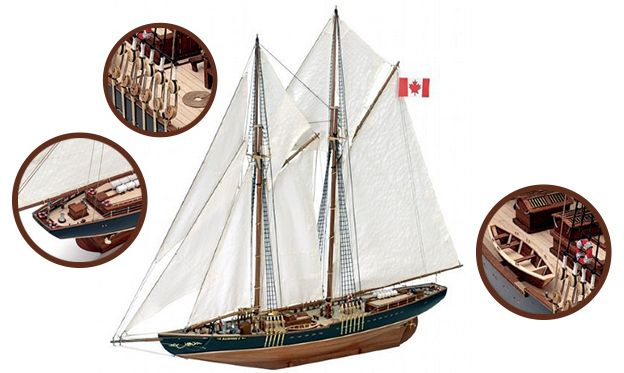 La Reina de los grandes barcos: Goleta Bluenose II - Esta goleta de pesca canadiense es una de las más famosas en la historia de la navegación. El Bluenose original fue botado en 1921 en Nueva Escocia para ser un barco de pesca y regatas. // Discover the Bluenose II, a wooden model made of this Canadian schooner. The original Bluenose was built as a fishing  and race boat in response to the defeat of the Nova Scotia schooner Delawana against the Esperanto from Massachusetts.
